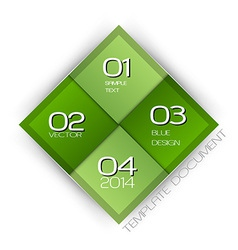 Business four squares green with text vector