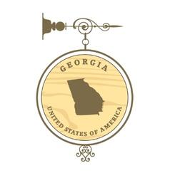 Vintage label Georgia vector image