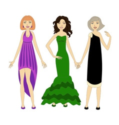 Three young women vector