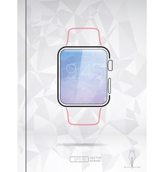 Line style smart watch isolated vector