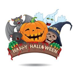 Happy halloween fun banner vector