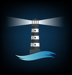 Logo old lighthouse image vector