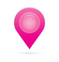 Pink map pointer icon marker gps location flag vector