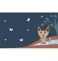 A cat spring walking - vector