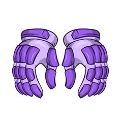 A pair of hockey gloves icon cartoon style vector image
