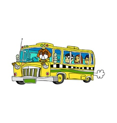 A running bus vector image vector image