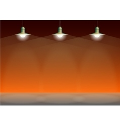 Ancient three bronze lamp hanging Big and empty vector image vector image