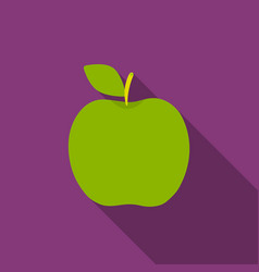 apple icon flat singe fruit icon vector image