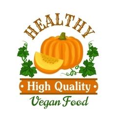 Autumn harvest pumpkin vegetable symbol vector