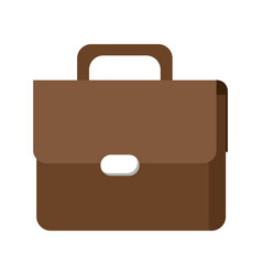 Brown portfolio briefcase business accessory vector