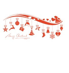 Christmas ornament border with angel vector image