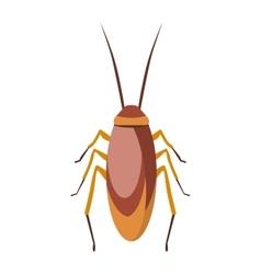 Cockroach bug cartoon flat vector