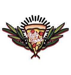 Color vintage italy food emblem vector image vector image