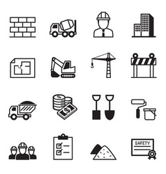 Construction icon set2 vector