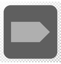 Direction Right Rounded Square Button vector image vector image
