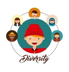Diversity of world cultures vector