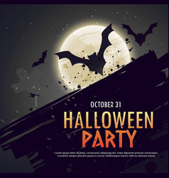 Flying bats spooky hallowen background vector
