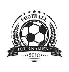 footbal tournament logotype or emblem in retro vector image vector image