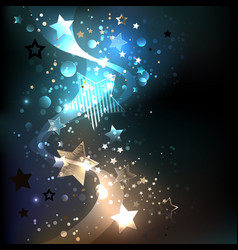 glowing blue stars vector image vector image