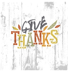 Happy thanksgiving design give thanks logo for vector