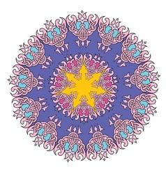 Lace mandala vector image vector image