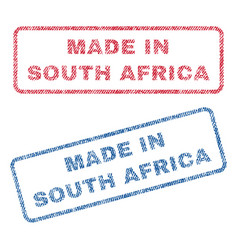 Made in south africa textile stamps vector