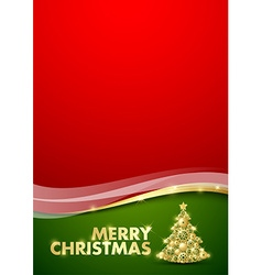 Merry Christmas document template vector image vector image