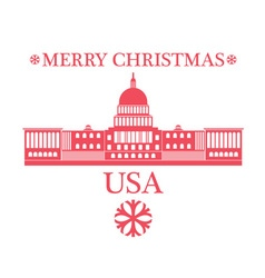 Merry Christmas United States of America vector image