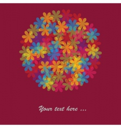 multicolored flowers vector image