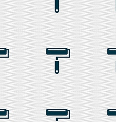 Paint roller icon sign Seamless pattern with vector image