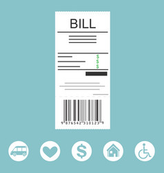 Paying bill concept vector