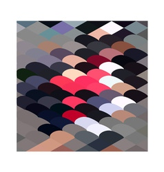 Pebble abstract low polygon background vector