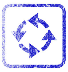 Recycle framed textured icon vector