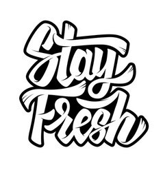 Stay fresh lettering phrase on white background vector