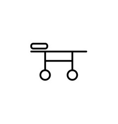 stretcher icon on white background vector image vector image