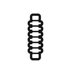 Stylish black and white icon human vertebra vector