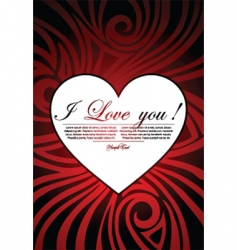 valentine art background vector image vector image