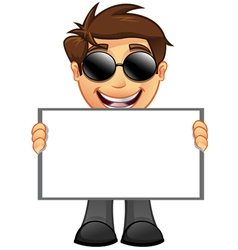 Business man blank sign 10 vector