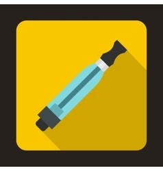 Electronic cigarette atomizer icon flat style vector
