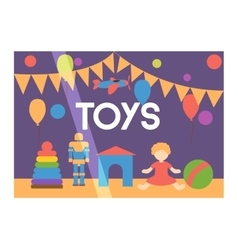 Toy shop facade vector