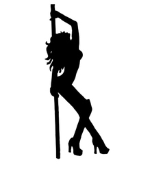 High quality girlstriptease poledance vector