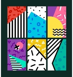 Abstract geometric design backgrounds pack vector