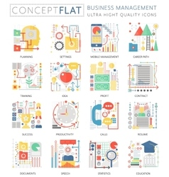 Infographics mini concept business management vector