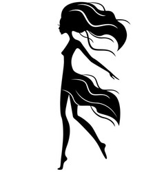 abstract graceful girl in motion vector image