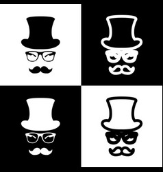 Hipster accessories design  black and vector