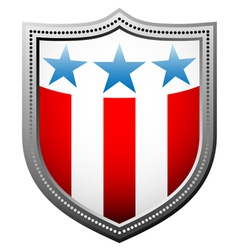 Star and stripes badge vector