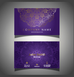 Elegant business card template vector