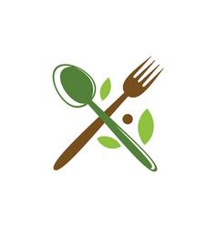 Spoon fork food menu organic logo vector