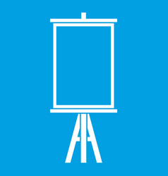 Easel icon white vector