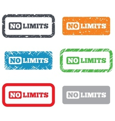 No limit sign icon unlimited symbol vector